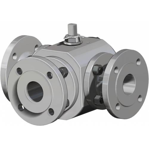 Thor Split Body 3 ways 4 seals PN 16-40 ANSI 150 stainless steel ball valve