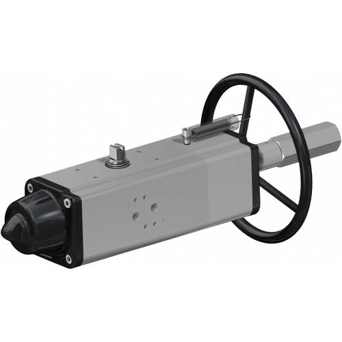 Pneumatic actuator spring return SR with integrated handwheel
