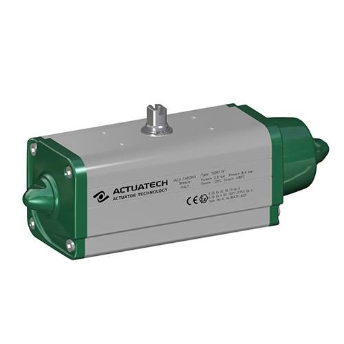 GS (spring return) pneumatic actuator 40 PSI ÷ 2,8 bar