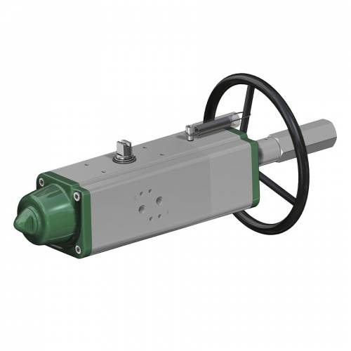GSV (spring return) pneumatic actuator with integrated manual control