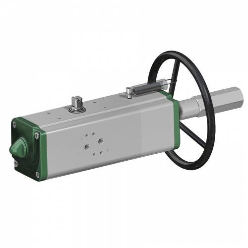 GDV (double acting) pneumatic actuator with integrated manual control
